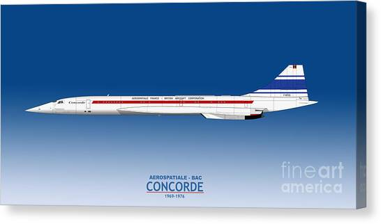 Airplane blueprint canvas prints page 16 of 19 fine art america airplane blueprint canvas print prototype concorde 001 f wtss by steve h clark photography malvernweather Images