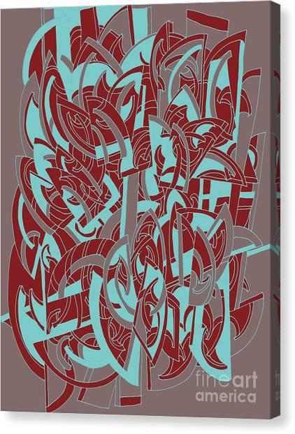 Protractors Canvas Print - Protractor Memories by Nancy Kane Chapman