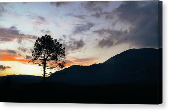 Provence, France Sunset Canvas Print