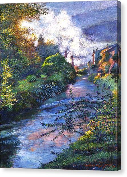 Southern France Canvas Print - Provence River by David Lloyd Glover