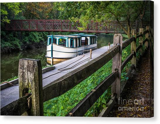 Providence Metropark Erie Canal  Canvas Print