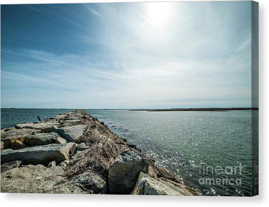 Provincetown Breakwater Canvas Print