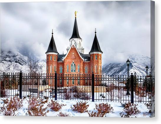 Provo City Center Temple Canvas Print, Photographic Print, Art Print, Framed Print, Greeting Card, Canvas Print