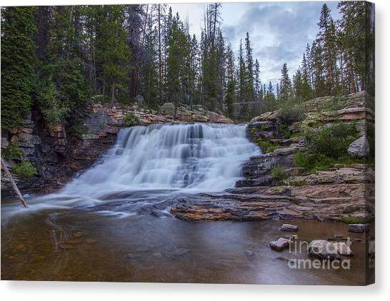 Provo River Falls Canvas Print