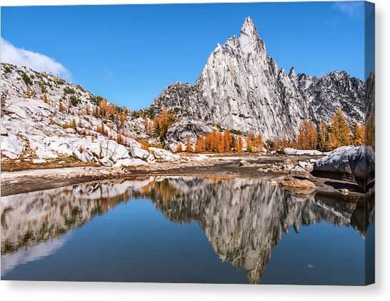 Prusik Peak Reflected In Gnome Tarn Canvas Print