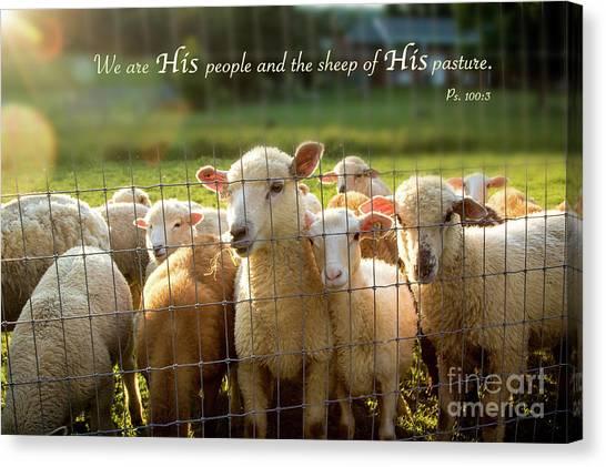 Psalm 100 Canvas Print