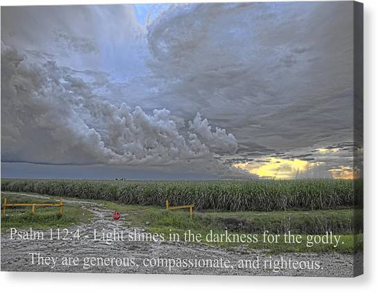 Psalm 112 4  Canvas Print by Roberto Aloi