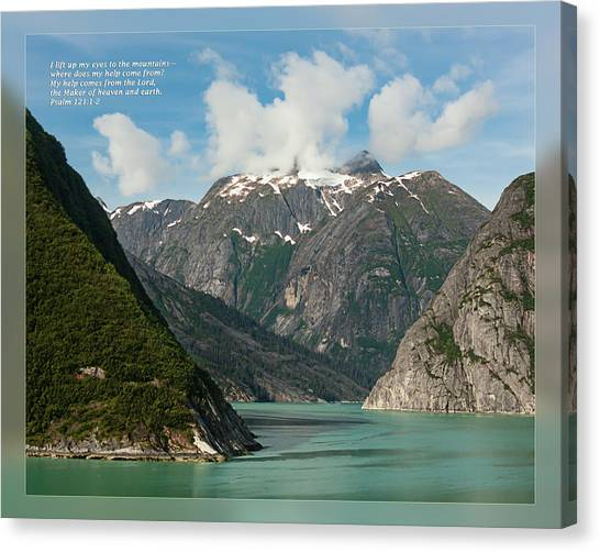 Canvas Print featuring the photograph Psalm 121 1-2 by Dawn Currie