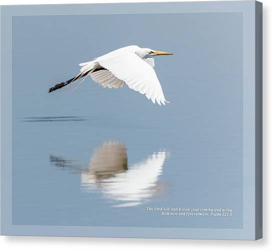 Canvas Print featuring the photograph Psalm 121 8 by Dawn Currie