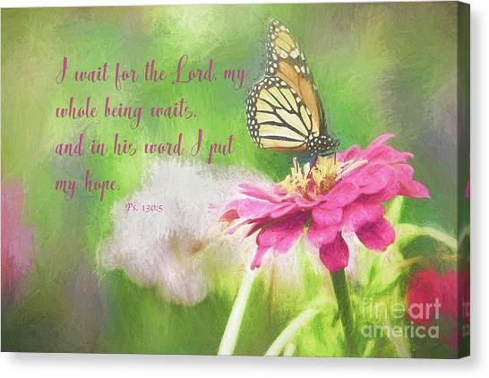 Psalm 130 Canvas Print