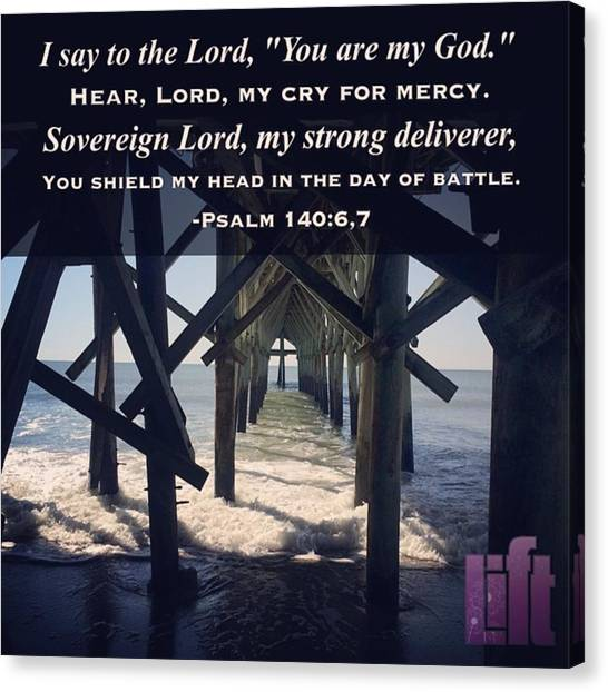 Mercy Canvas Print - #psalm 140 #rescue Me, Lord, From by LIFT Women's Ministry designs --by Julie Hurttgam