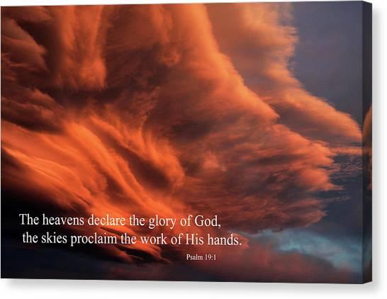 Psalm 19-1 Canvas Print