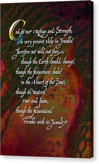 Psalm 46 Canvas Print