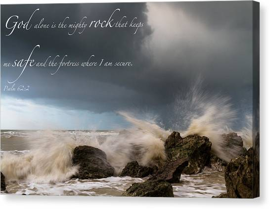 Psalm 62 2 Canvas Print