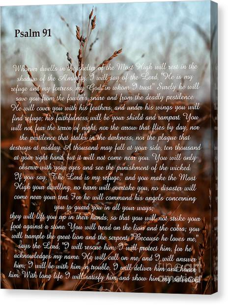 Psalm 91 Canvas Print