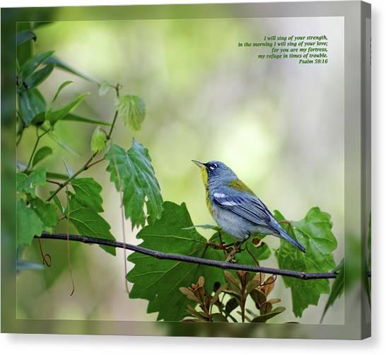 Psalm 59 16 Canvas Print