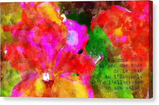 Psaumes 35-9 Canvas Print by Payet Emmanuel