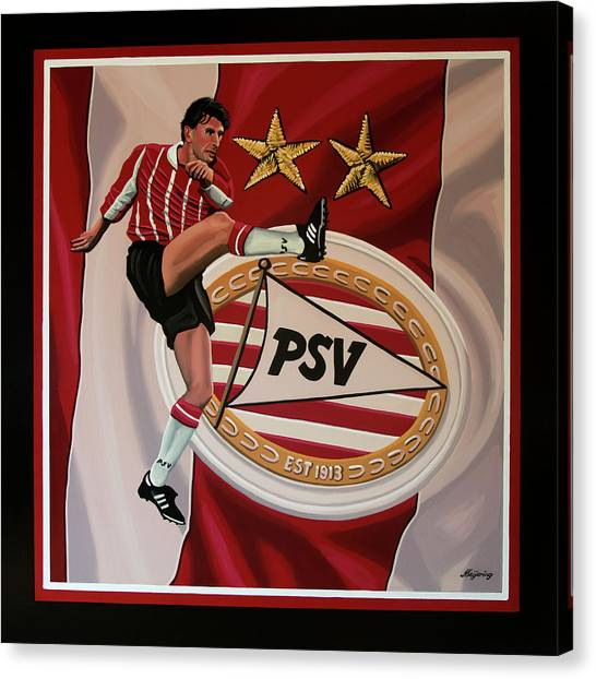 Uefa Champions Canvas Print - Psv Eindhoven Painting by Paul Meijering