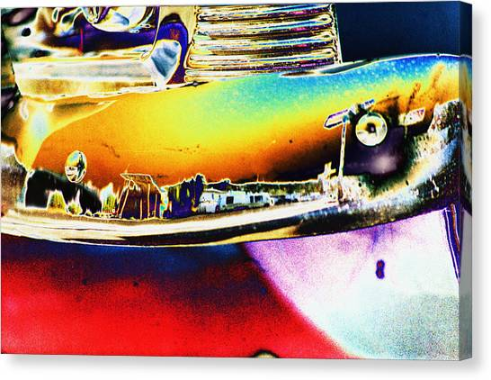 Psychedelic Chevy Bumper Canvas Print by Richard Henne