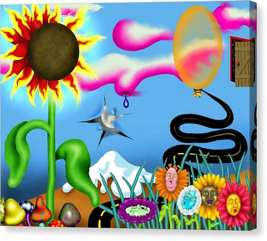 Psychedelic Dreamscape I Canvas Print