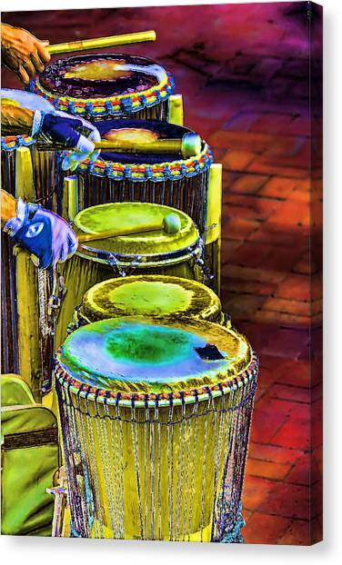Psychedelic Drums Canvas Print