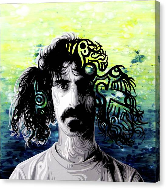 Frank Zappa Canvas Print - Psychedelic Frank Zappa Portrait by Ocean Clark