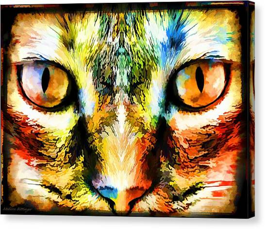 Psychedelic Kitty Cat Canvas Print