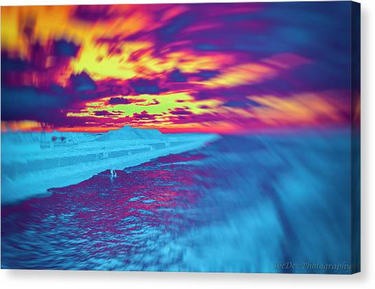 Psychedelic Sunset Canvas Print