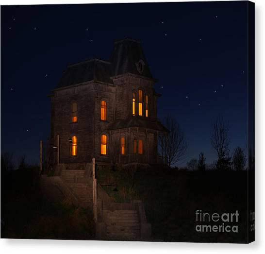 Psycho House-bates Motel Canvas Print