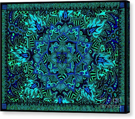 Psyformation Green Hue Canvas Print
