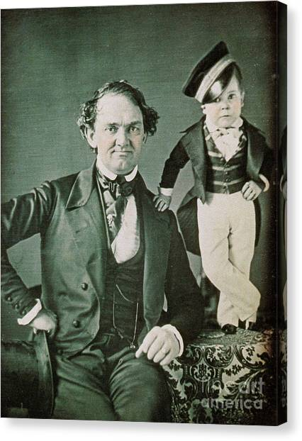 Notable Canvas Print - P.t. Barnum, American Showman by Photo Researchers