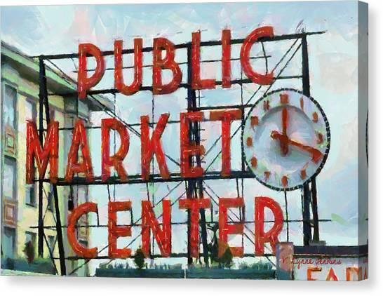 Public Market Center Canvas Print