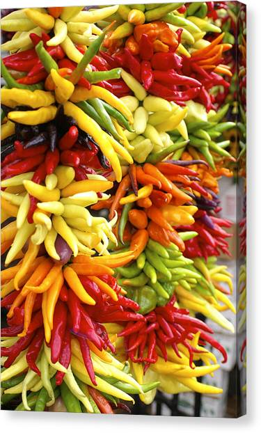Public Market Peppers Canvas Print