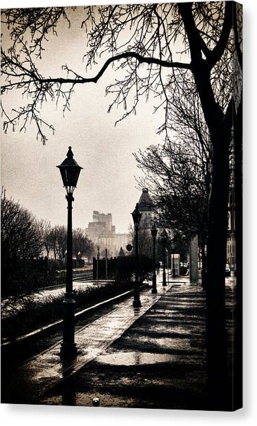 Puddles Of Light.. Canvas Print