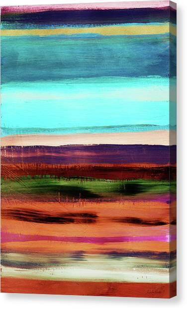 Stripe Canvas Print - Pueblo 2- Art By Linda Woods by Linda Woods