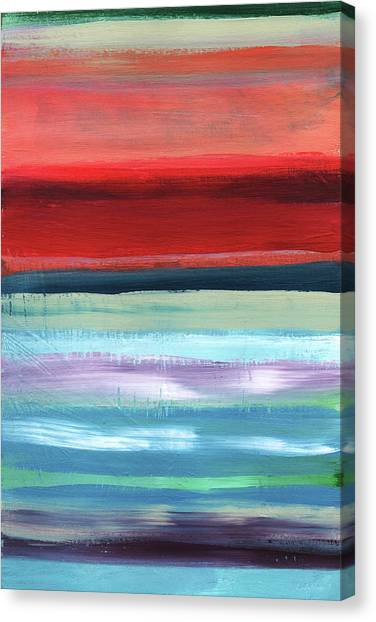 Sunset Horizon Canvas Print - Pueblo- Abstract Art By Linda Woods by Linda Woods