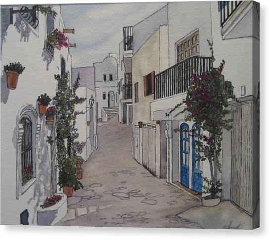 Pueblo Canvas Print by Victoria Heryet