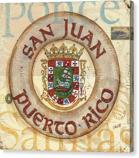 Scape Canvas Print - Puerto Rico Coat Of Arms by Debbie DeWitt