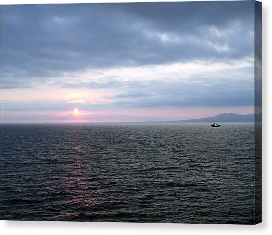 Puerto Vallarta Bay At Sunset Canvas Print