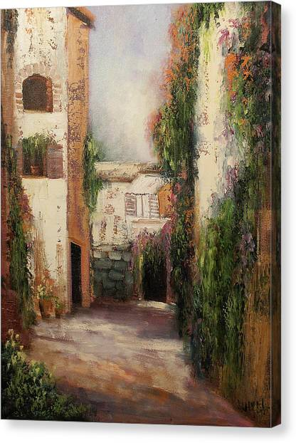Puerto Vallarta Canvas Print by Sally Seago