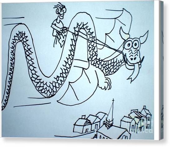 Puff The Magic Dragon Canvas Print by Hal Newhouser