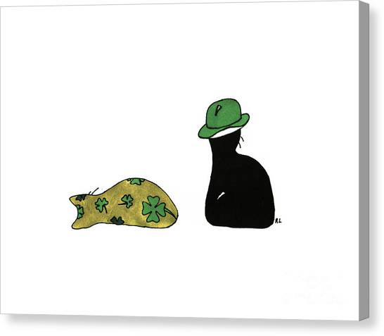 Puffie And Muffie St. Patrick's Day Canvas Print