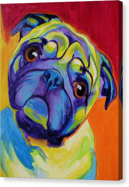 Pugs Canvas Print - Pug - Lyle by Alicia VanNoy Call