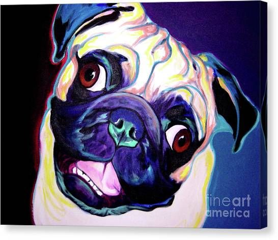 Pug Canvas Print - Pug - Rider by Alicia VanNoy Call