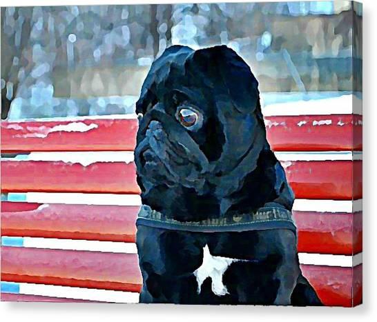 Canvas Print - Pug In Deutschland by Raven Hannah