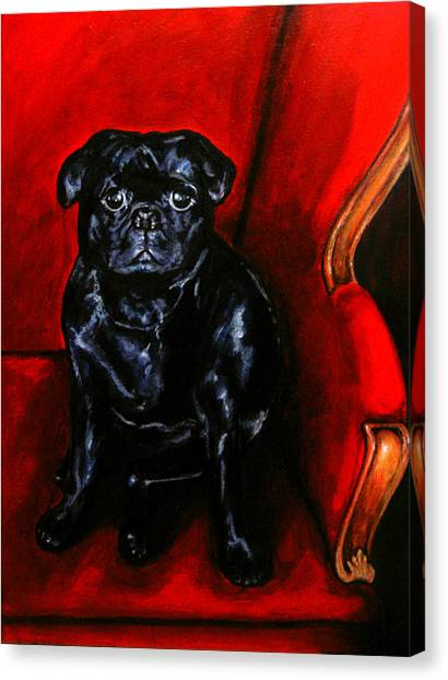 Canvas Print featuring the painting Puggsley by Thomas Lupari