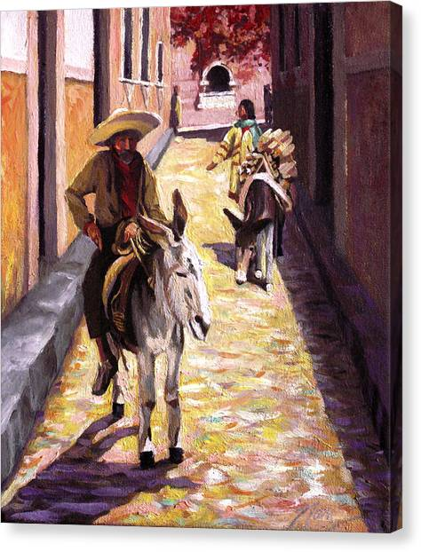 Pulling Up The Rear In Mexico Canvas Print