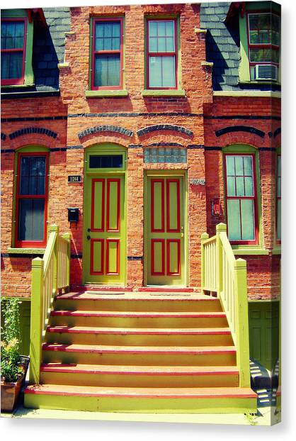 Pullman National Monument Row House Canvas Print