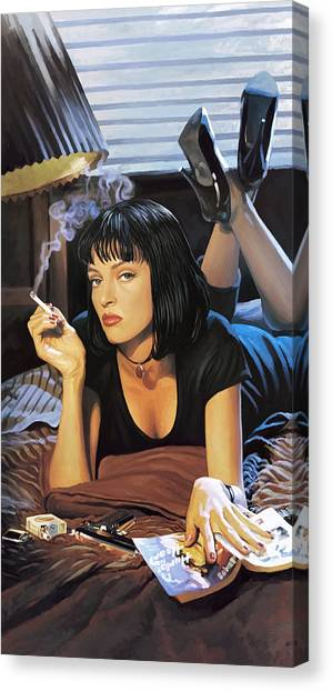 Pulp Fiction Canvas Print - Pulp Fiction Artwork 2 by Sheraz A