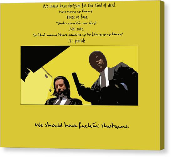 Pulp Fiction Canvas Print - Pulp Fiction by Maye Loeser